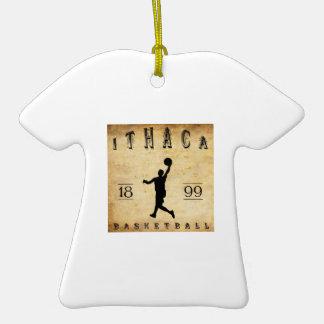 Baloncesto 1899 de Ithaca Nueva York Adorno De Cerámica En Forma De Playera