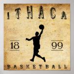 Baloncesto 1899 de Ithaca Nueva York Posters