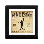 Baloncesto 1899 de Madison Wisconsin Cajas De Recuerdo