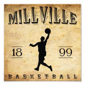 Baloncesto 1899 de Millville New Jersey Impresión Fotográfica