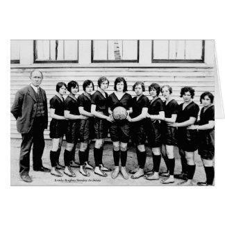 Baloncesto 1930 de los chicas de Dibrill Tarjeta De Felicitación