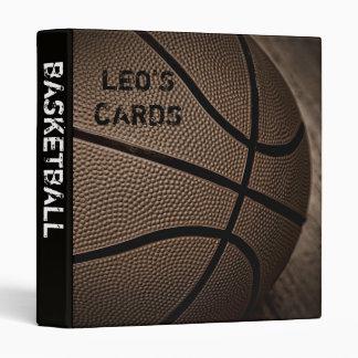 """Baloncesto 1"""" de la sepia carpeta de las tarjetas"""