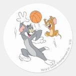 Baloncesto 1 de Tom y Jerry Pegatina Redonda
