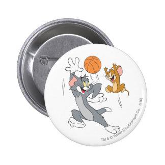 Baloncesto 1 de Tom y Jerry Pin Redondo De 2 Pulgadas