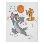 Baloncesto 1 de Tom y Jerry Póster
