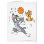 Baloncesto 1 de Tom y Jerry Tarjeta De Felicitación