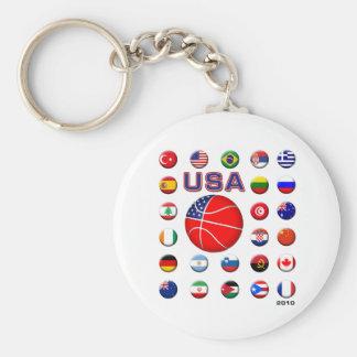 Baloncesto 2010 de los E.E.U.U. Llavero Redondo Tipo Pin
