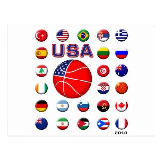 Baloncesto 2010 de los E.E.U.U. Postales