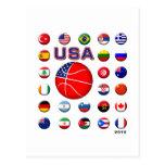 Baloncesto 2010 de los E.E.U.U. Tarjeta Postal