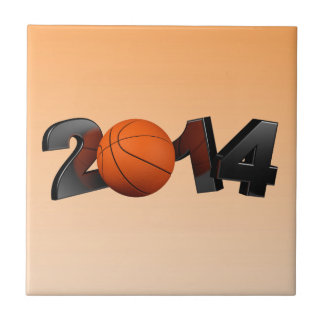 Baloncesto 2014 azulejo cuadrado pequeño