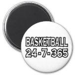 Baloncesto 24-7-365 imán de nevera