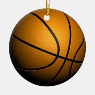 baloncesto 3d adorno navideño redondo de cerámica
