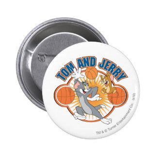 Baloncesto 4 de Tom y Jerry Pin Redondo 5 Cm