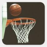 Baloncesto 5 calcomanía cuadrada