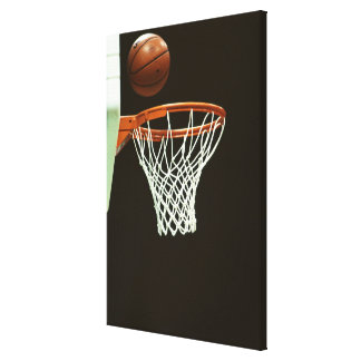Baloncesto 5 lona envuelta para galerías