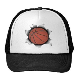 baloncesto a través de la hoja de metal gorras