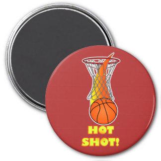 Baloncesto a través de la red: Tiro caliente Imán Redondo 7 Cm