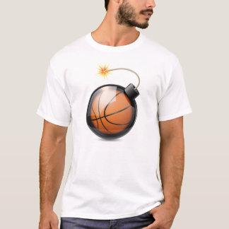 Baloncesto abstracto formado como una bomba playera