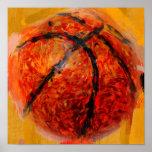Baloncesto abstracto impresiones