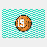 Baloncesto; Aguamarina Chevron verde