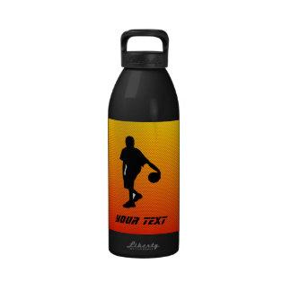 Baloncesto amarillo-naranja botella de beber