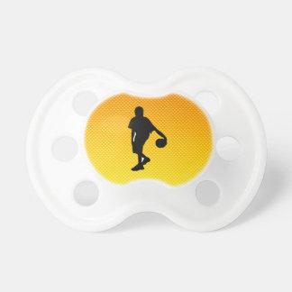 Baloncesto amarillo-naranja chupetes para bebes