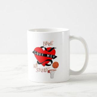¡BALONCESTO! ¿Ámeme? Ame mi deporte Taza De Café