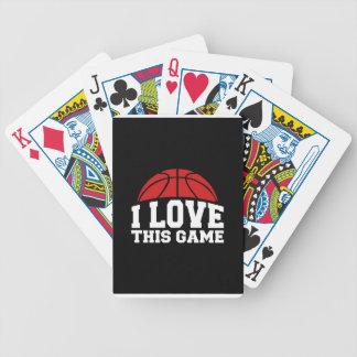 Baloncesto - amor de i este juego baraja de cartas bicycle
