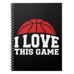 Baloncesto - amor de i este juego cuaderno