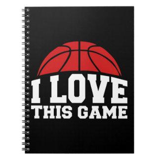 Baloncesto - amor de i este juego spiral notebooks