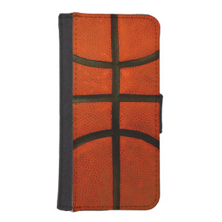 Baloncesto anaranjado gastado funda tipo cartera para iPhone 5