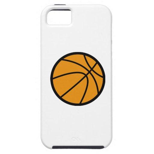 Baloncesto anaranjado iPhone 5 funda