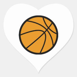 Baloncesto anaranjado colcomanias corazon
