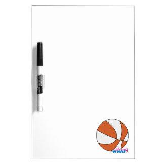 Baloncesto anaranjado tableros blancos