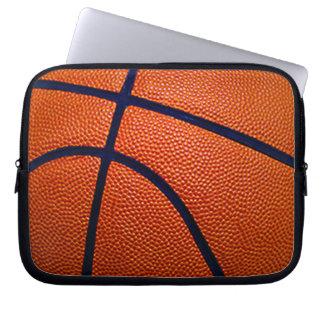 Baloncesto anaranjado y negro funda computadora