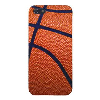 Baloncesto anaranjado y negro iPhone 5 cárcasa