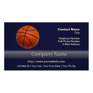 Baloncesto anaranjado y negro plantilla de tarjeta de visita