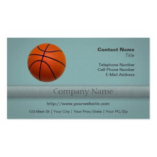 Baloncesto anaranjado y negro tarjetas de visita