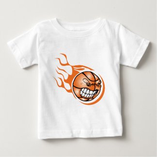 Baloncesto ardiente enojado t shirt