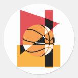Baloncesto artístico pegatina redonda