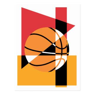 Baloncesto artístico tarjeta postal