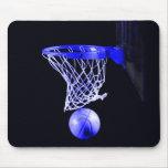 Baloncesto azul alfombrilla de ratones