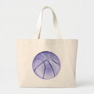 Baloncesto azul bolsa tela grande