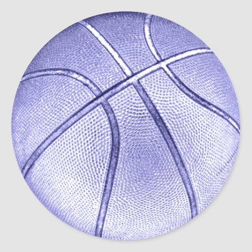 Baloncesto azul pegatina redonda