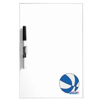 Baloncesto azul tablero blanco