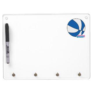 Baloncesto azul pizarras blancas