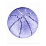 Baloncesto azul postal