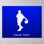 Baloncesto azul posters
