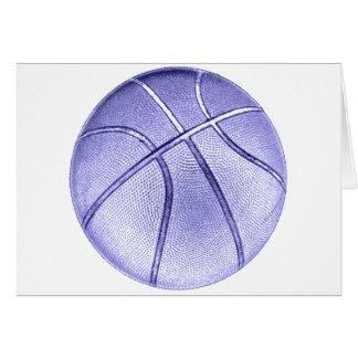 Baloncesto azul tarjeta de felicitación