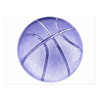 Baloncesto azul postales